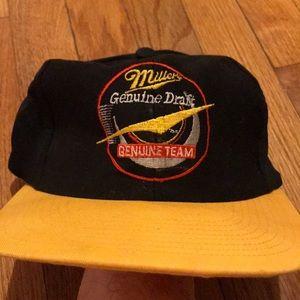 Vintage Miller Genuine Draft leather strap hat